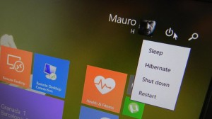 Power button for tablets in Windows 8.1 Update