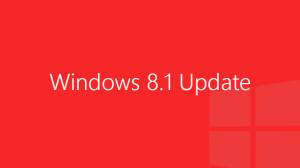 Windows 8.1 Update - red logo