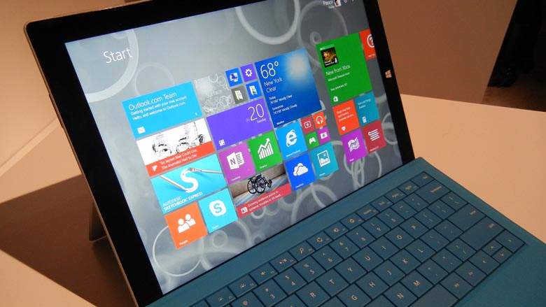 Surface Pro 3 with Type Cover at Surface event in NYC
