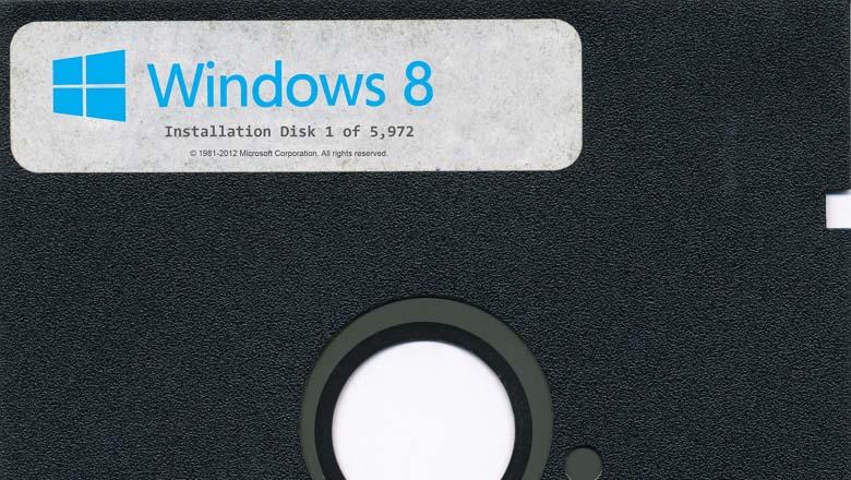 Windows 8 floppy install
