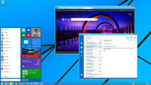 """Windows 9 """"Threshold"""" Start Menu concept from demo at Build conference."""