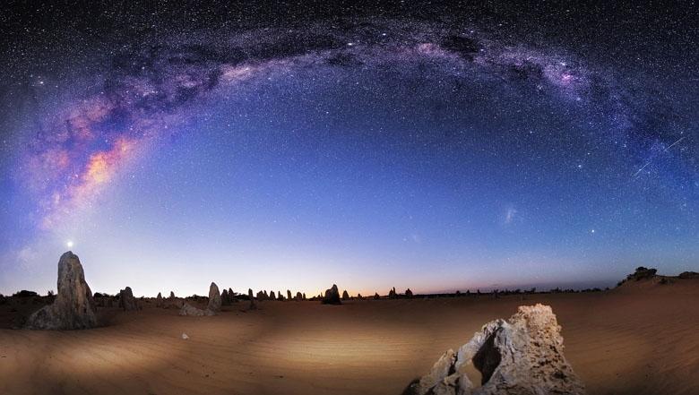 Milky Way over The Pinnacles, Western Australia