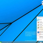 Notification Center in Windows 9 build 9834