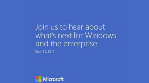 Windows event - invite for September 30 event in San Francisco