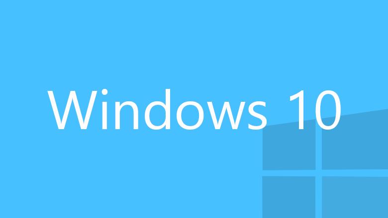 Windows 10 cyan logo