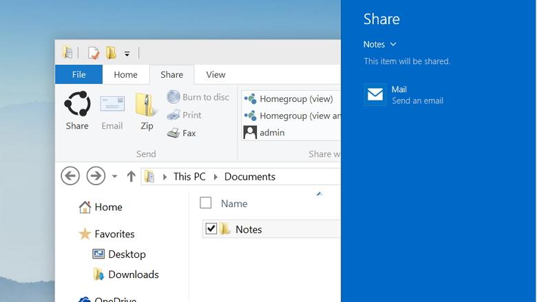 Windows 10: Share button arrives to the File Explorer • PUREinfoTech
