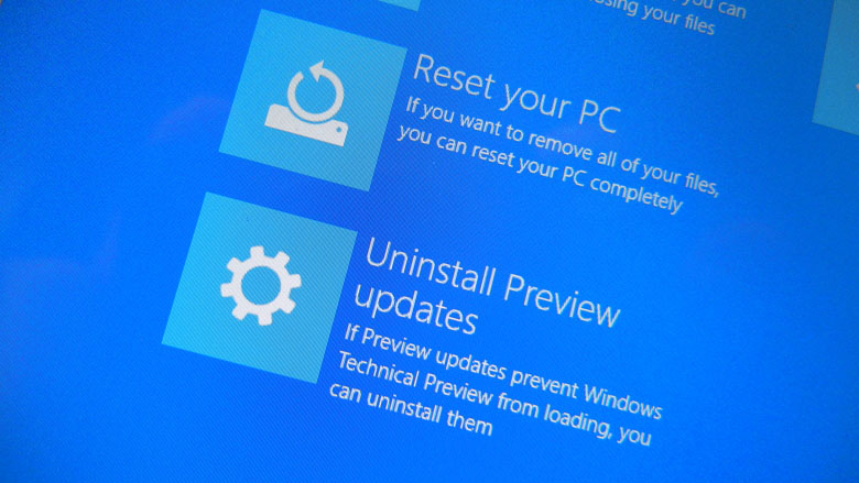 Uninstall Windows 10 Technical Preview updates