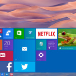 Windows 10 build 9841 desktop with Start menu