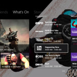 Xbox One November 14 update dashboard with custom background