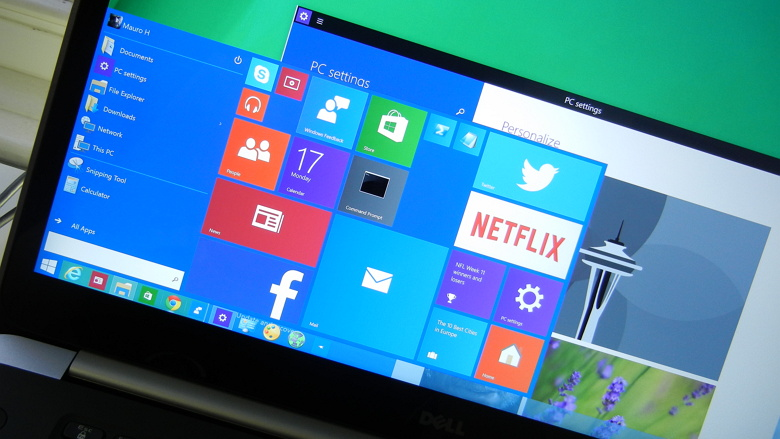 Computer running Windows 10