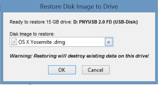 OS X to USB on Windows