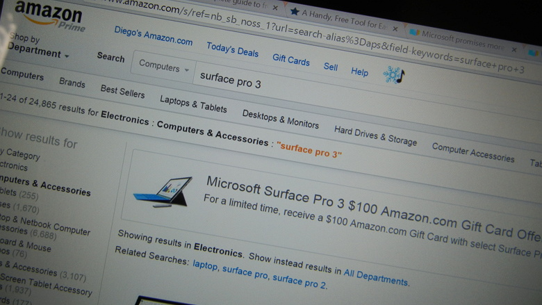 Surface Pro 3 Amazon deal