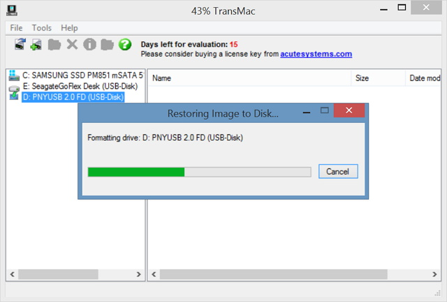 TransMac Mac OS X to USB