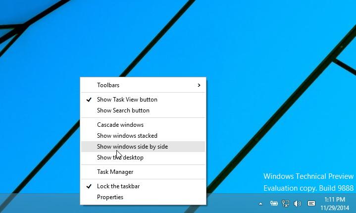 New context menu for Windows 10