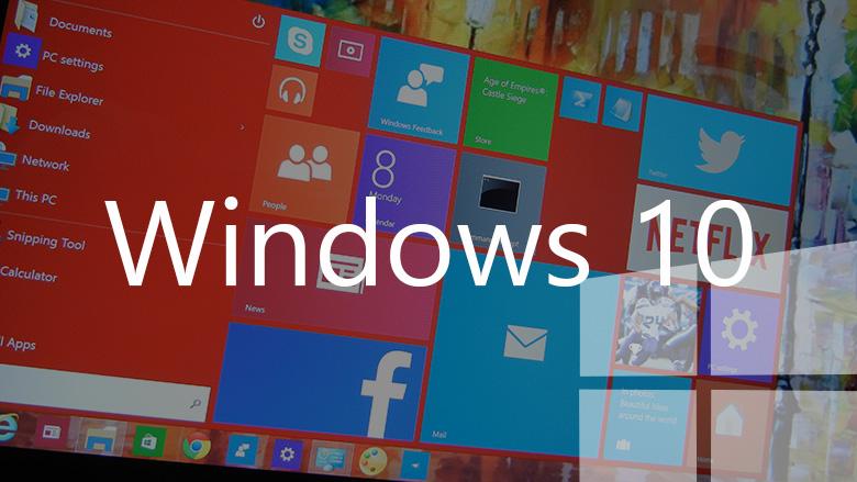 Windows 10 red Start menu