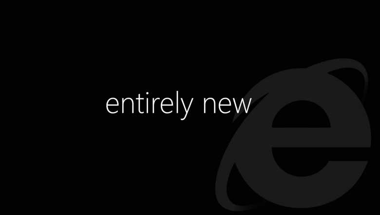 Microsoft web browser entirely new