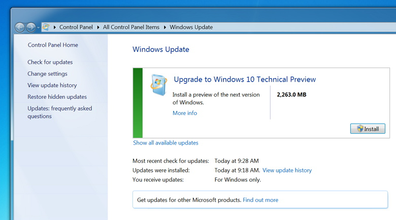 how to change updates in win 10