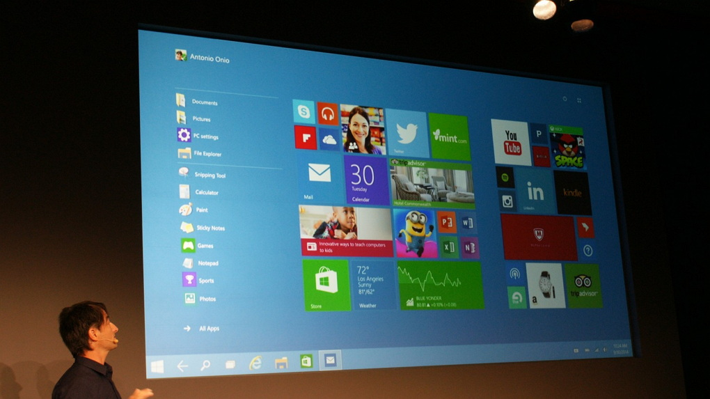 Microsoft's Joe Belfiore presenting Windows 10