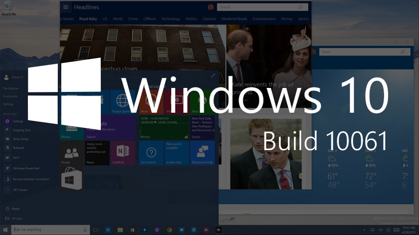 Windows 10 build 10061: Hands-on with the Start menu