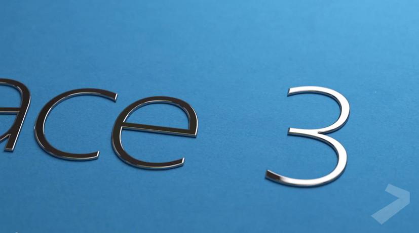 Microsoft's Surface 3 logo