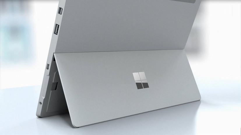 Surface 3 kickstand with Microsoft logo