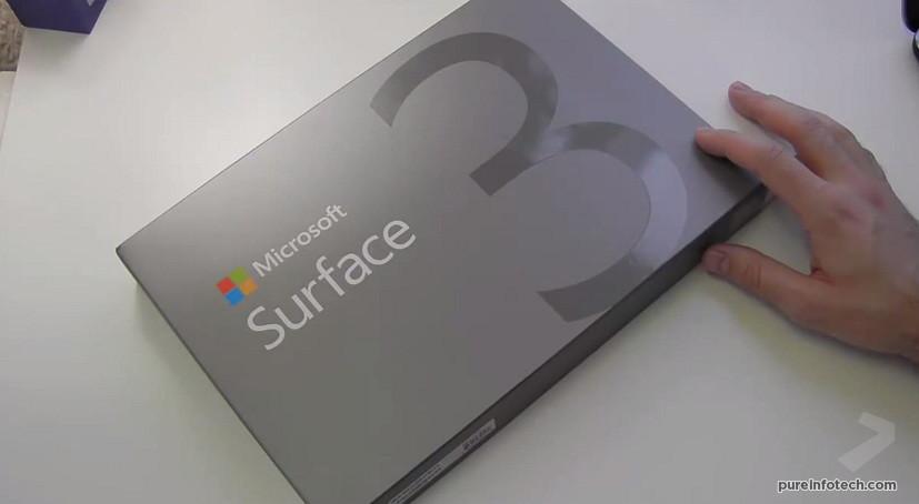 Surface 3 unbox
