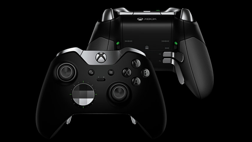 Xbox One Elite Wireless Controller back and front