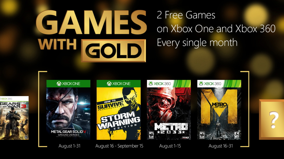 free games on xbox 360 august