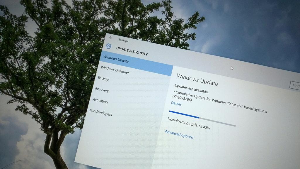 Windows 10 update in progress