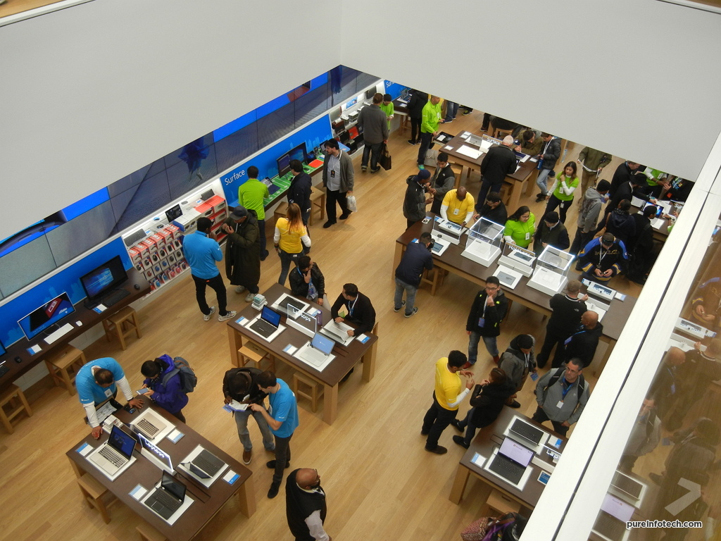 Microsoft Store from above