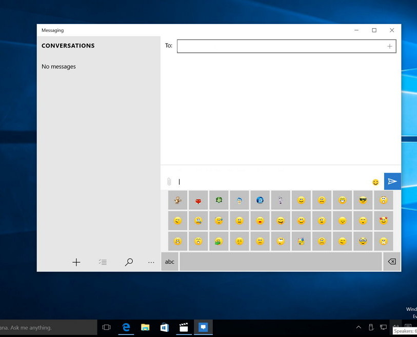 Messaging app for Windows 10