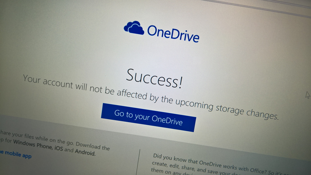 Opt-in to keep your free OneDrive storage