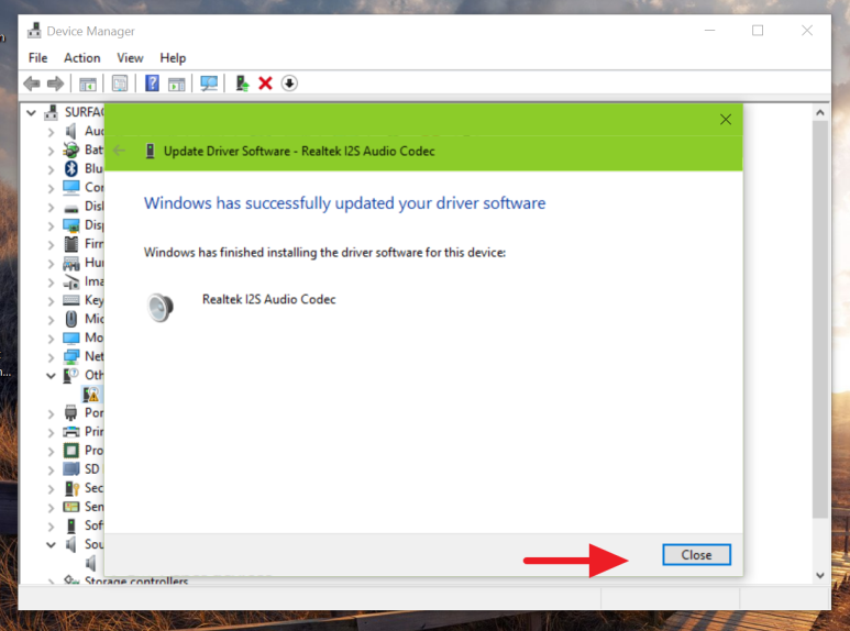Audio adapter driver install in Windows 10