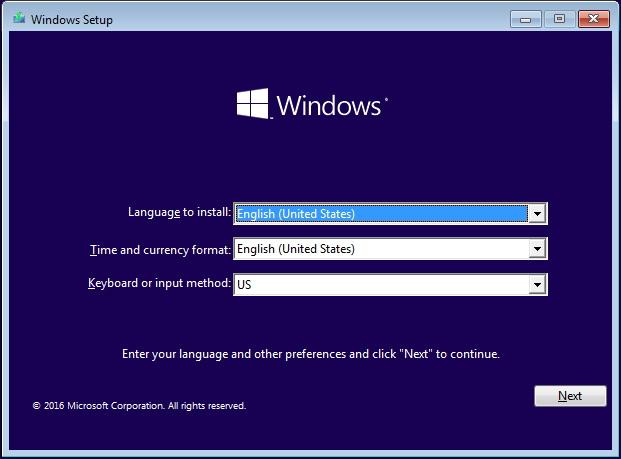 Windows Setup (Windows 10)