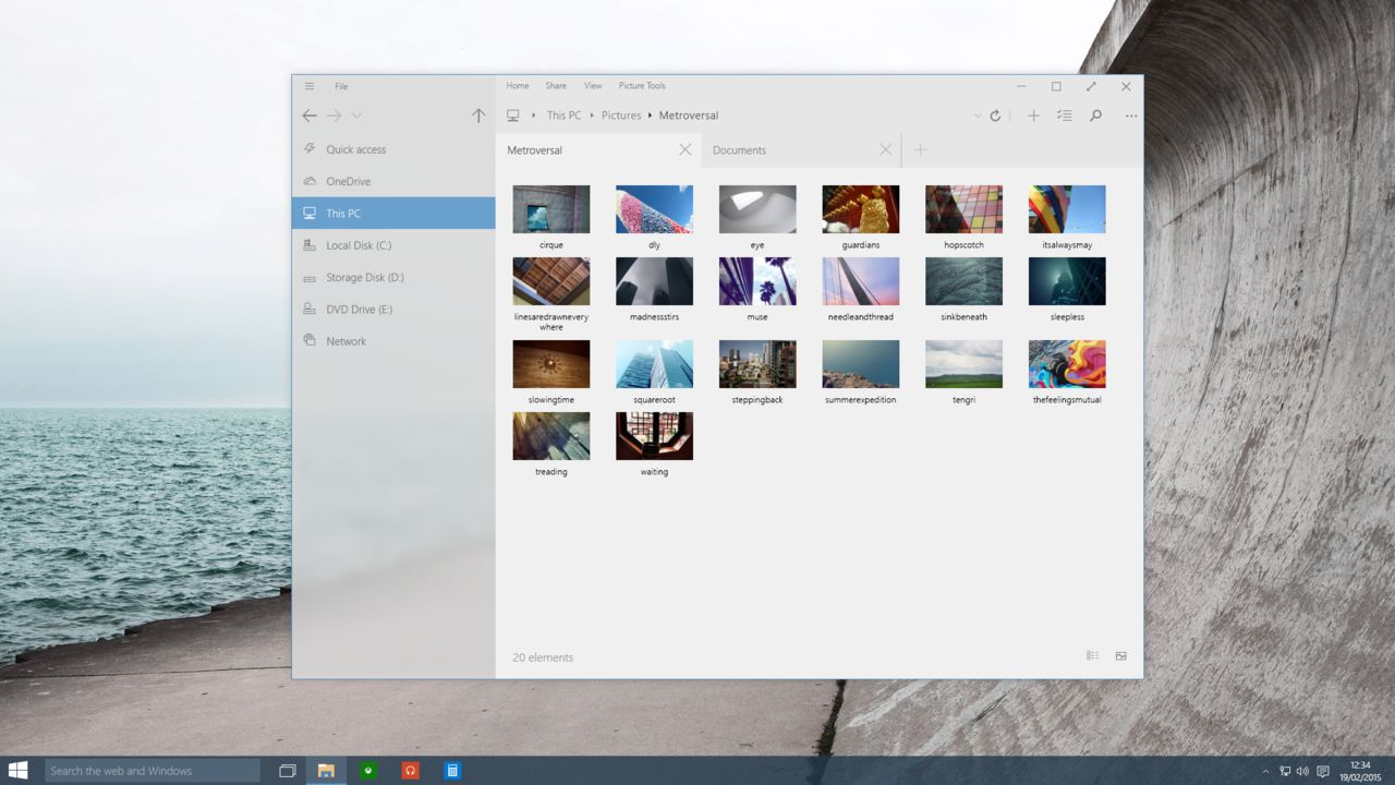 Windows 10 getting a new modern file explorer with tabs in for Brand windows
