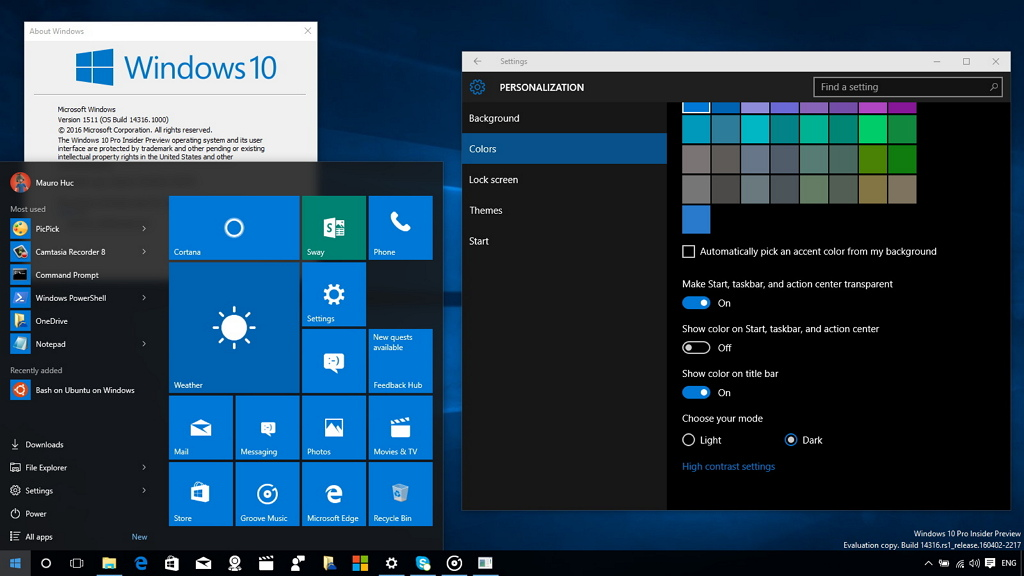 how to find windows 10 build number