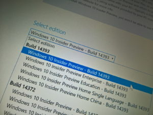 Windows 10 build 14393 ISO download