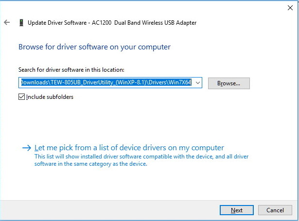 Install Wi-Fi adapter driver on Windows 10