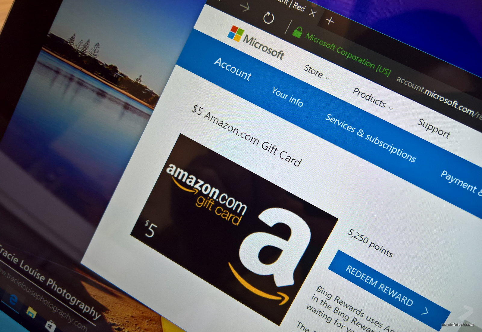 how to score free amazon gift cards using the microsoft