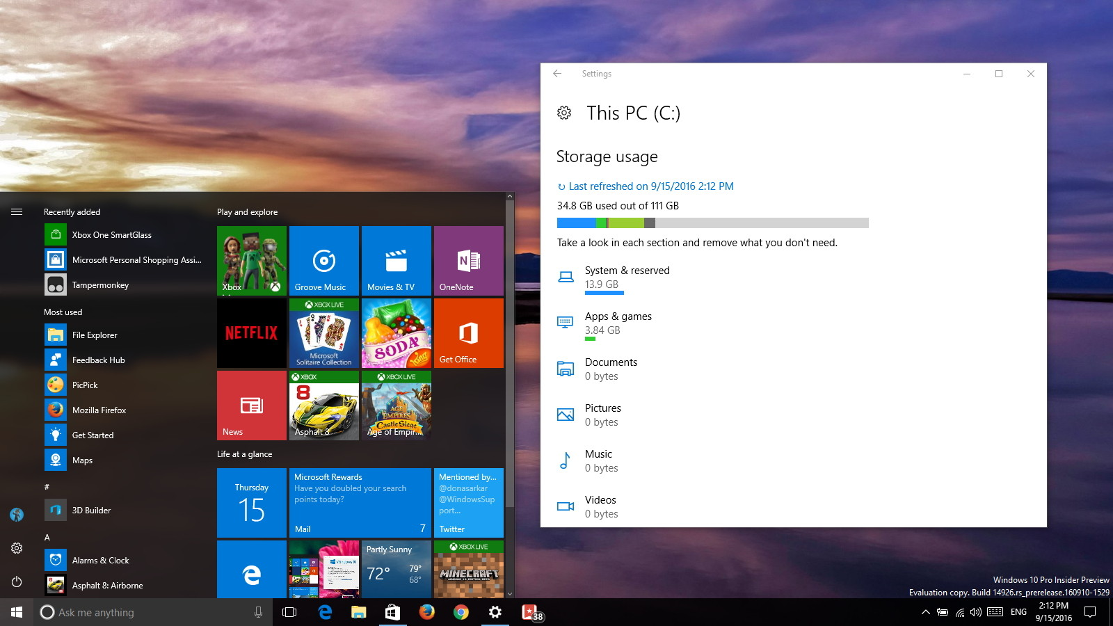 Windows 10 build 14926 video tour