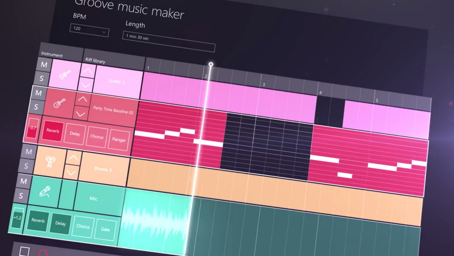 Groove music maker for the WIndows 10 Creators Update