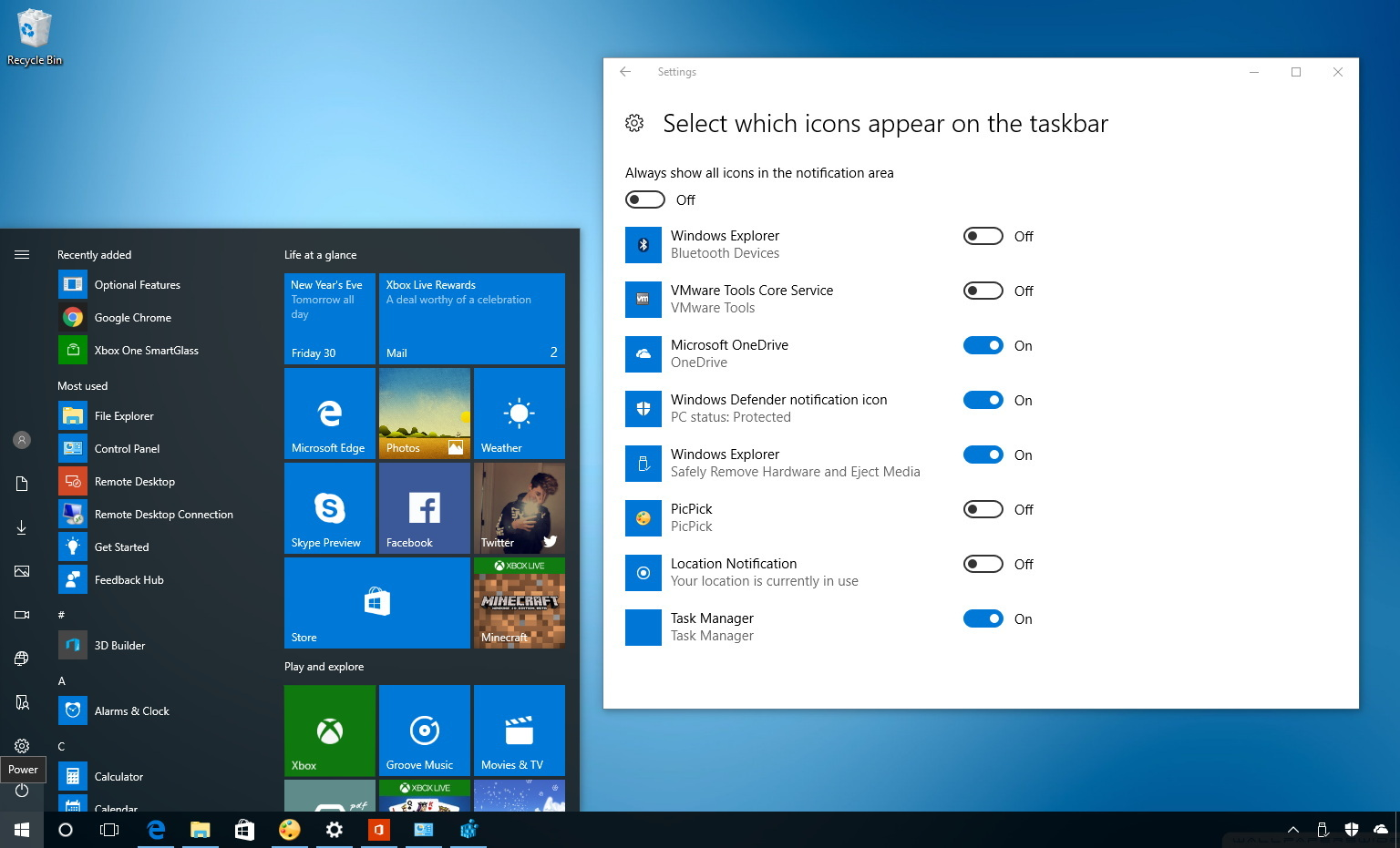 How To Customize Which Icons Appear On The Taskbar On