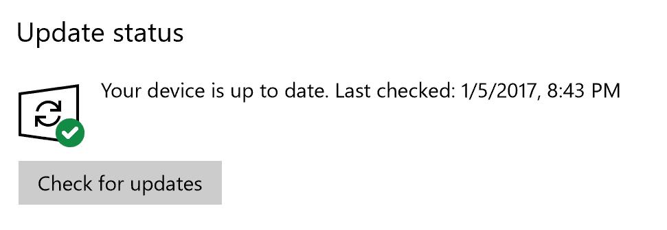 Windows Update green icon