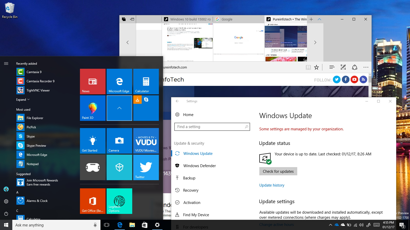 microsoft compares features across windows 10 home pro
