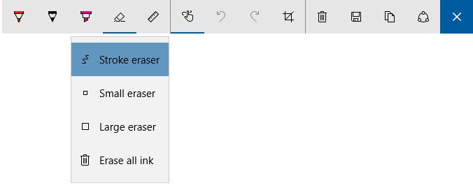 Windows Ink new Stroke eraser