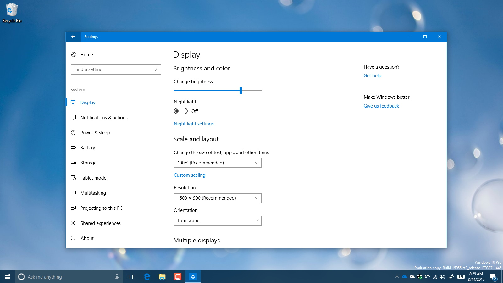 How to change screen resolution on windows 10 pureinfotech for Window opens off screen