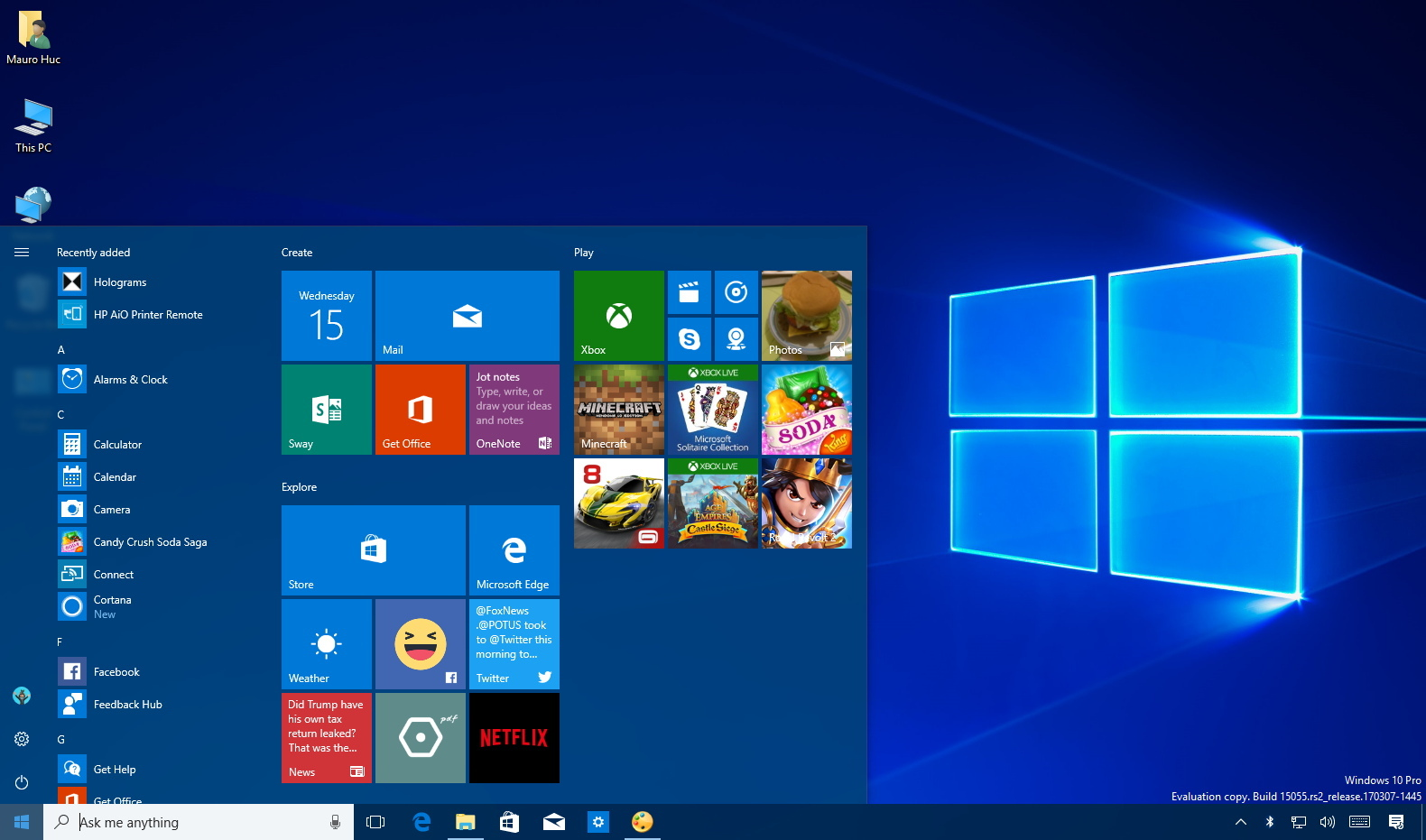 Windows Home Screen Images