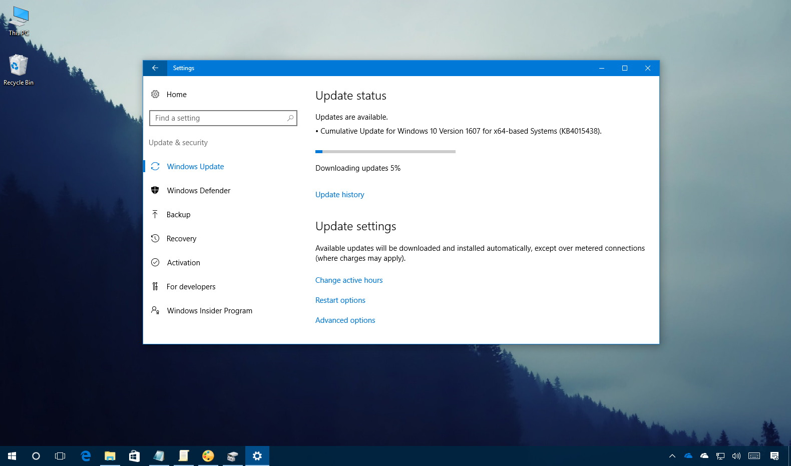 Cumulative update kb4015438 releases for windows 10 for Windows 10 update