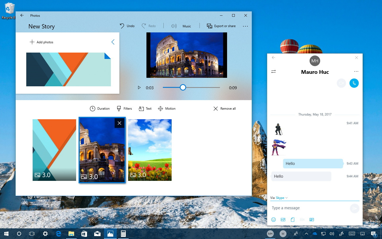 Windows 10 Fall Creators Update new features