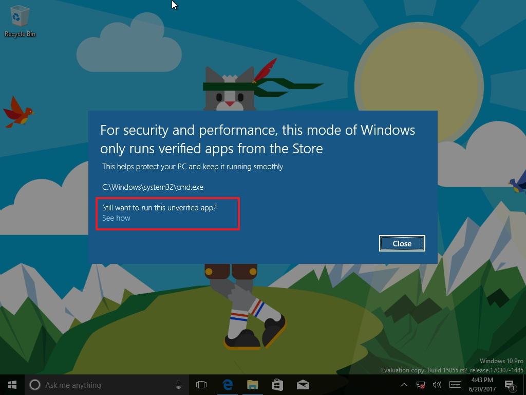 Windows 10 S to Windows 10 Pro